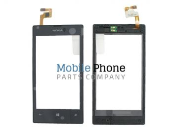 Genuine Nokia Lumia 520, Lumia 525 Digitiser With Frame - Part No: 00809L1